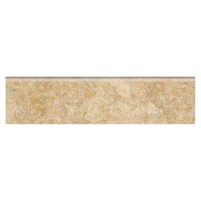 Fantesa Cameo 3 in. x 12 in. Glazed Porcelain Floor and Wall Bullnose Tile