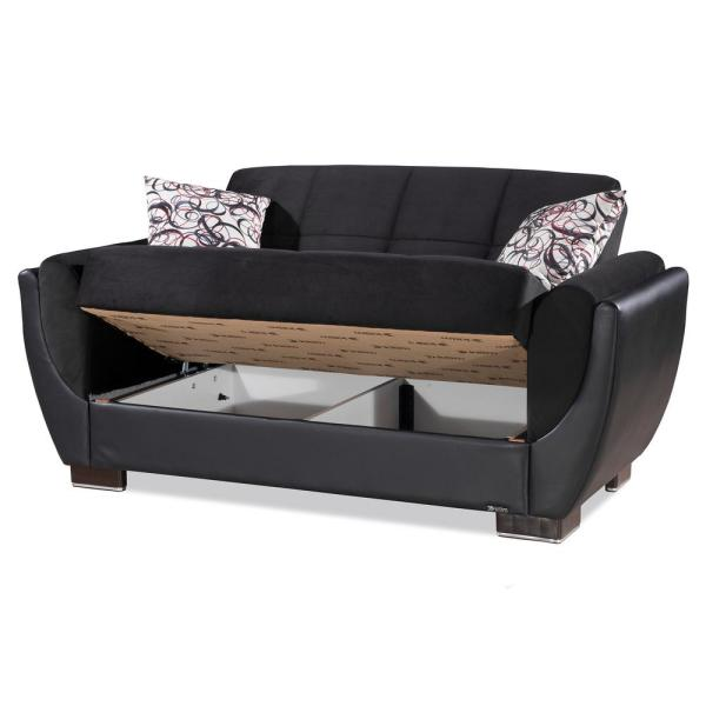 Ottomanson AIR-LS-106 Love Seats Loveseat Black