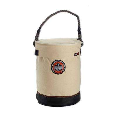 Arsenal 12.5 in Tool Bucket with Top in White Canvas
