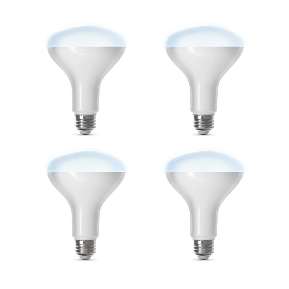 Feit Electric 65-Watt Equivalent Daylight (5000K) BR30 Dimmable Wi-Fi LED Smart Light Bulb (4-Pack)