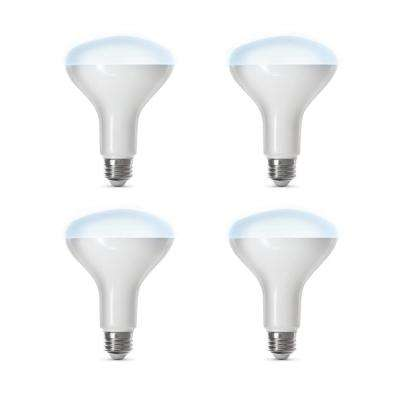 65-Watt Equivalent Daylight (5000K) BR30 Dimmable Wi-Fi LED Smart Light Bulb (4-Pack)