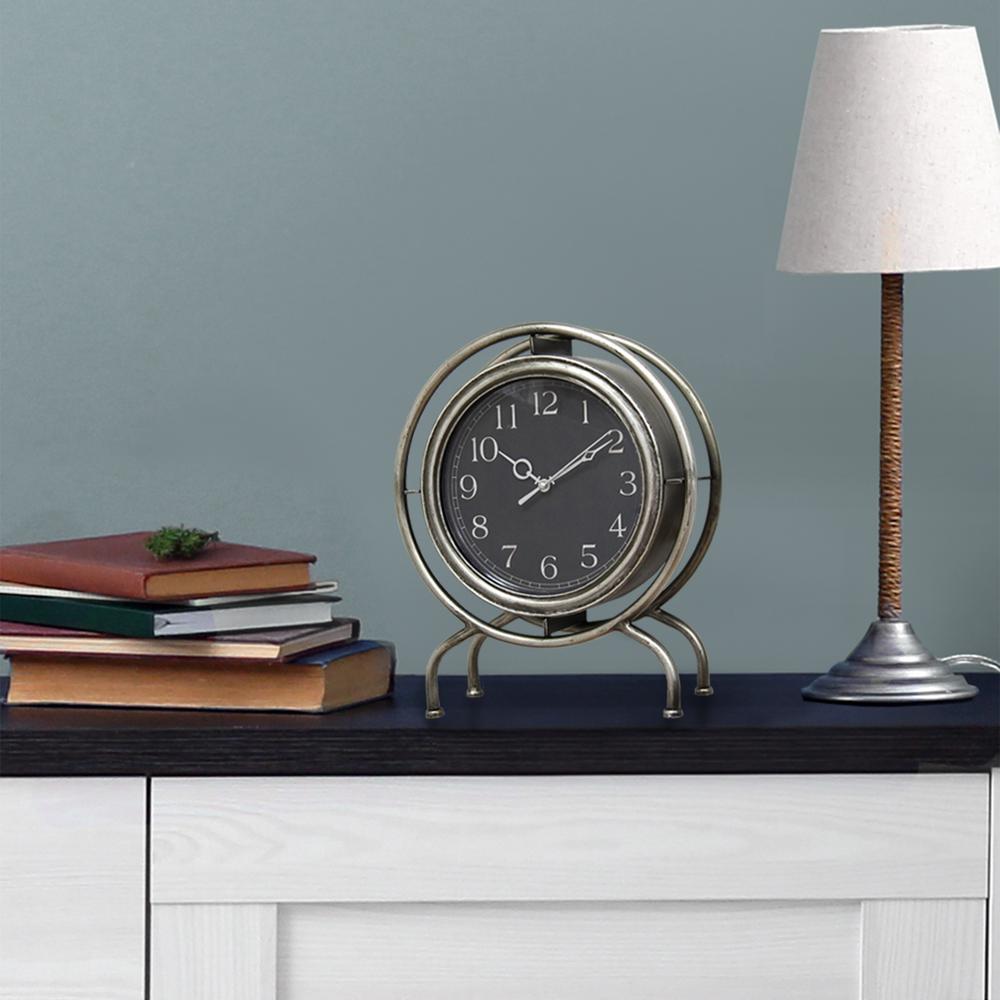 Gamma Silver Top Clock