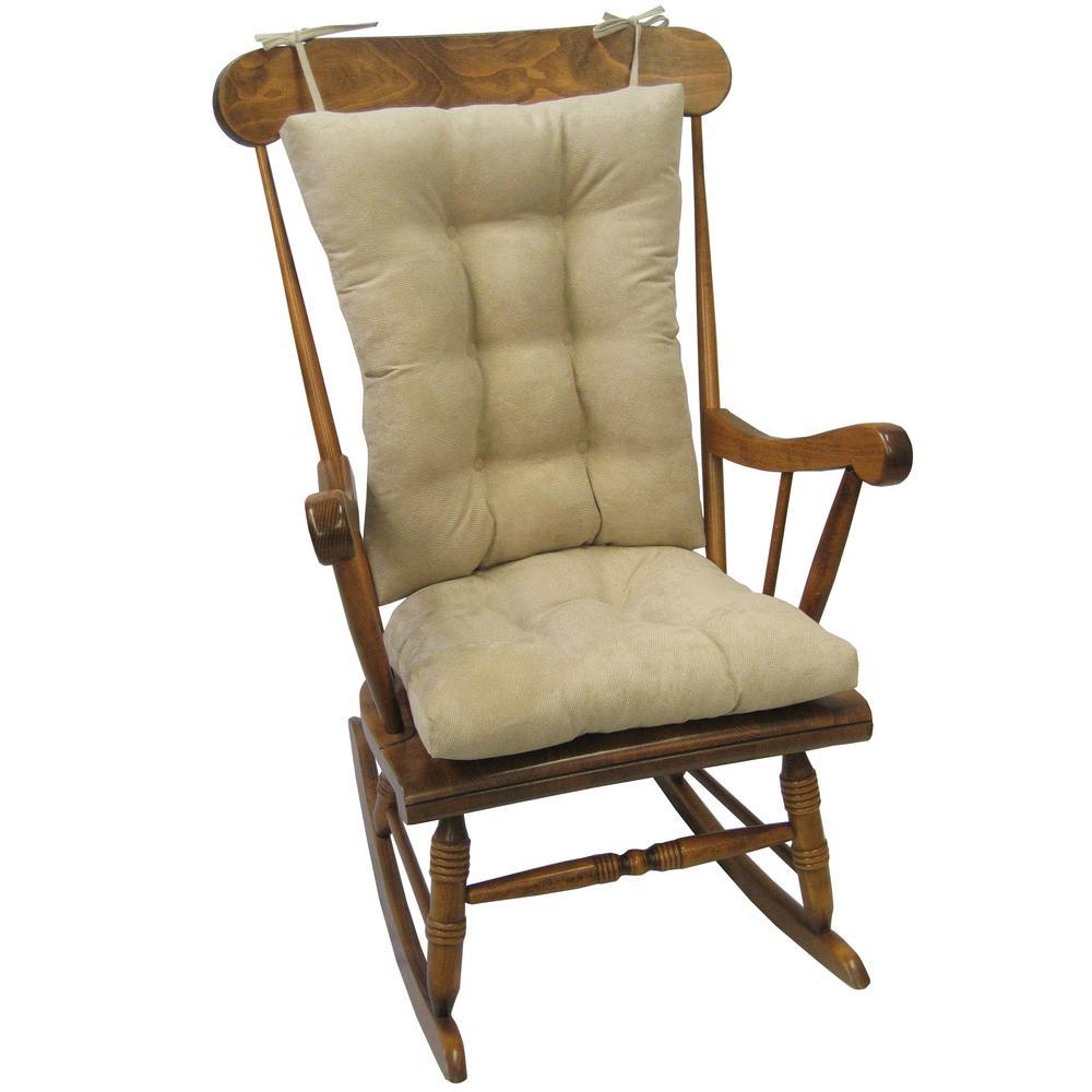 Gripper Twillo Stone Jumbo Rocking Chair Cushion Set