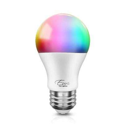 60-Watt Equivalent A19 Dimmable SMART LED Light Bulb in Bright White