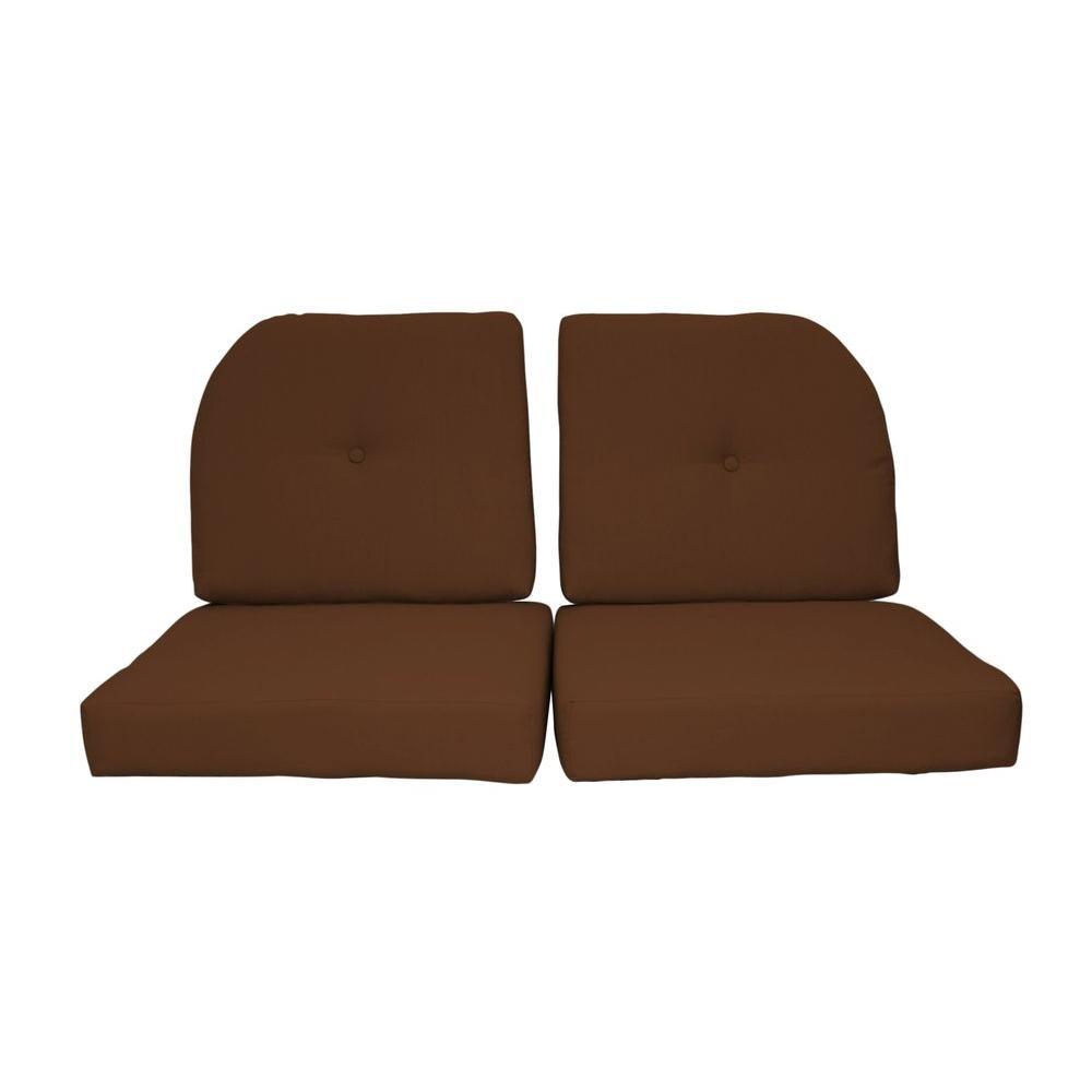 Sunbrella Sierra 4-Piece Outdoor Loveseat Cushion Set