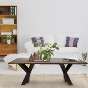 American Trails Ridgefield Natural Thick Solid Walnut Wood Top Coffee Table by American Trails