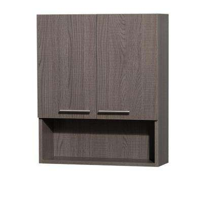 Amare 24 in. W x 29 in. H x 8-3/4 in. D Bathroom Storage Wall Cabinet in Grey Oak