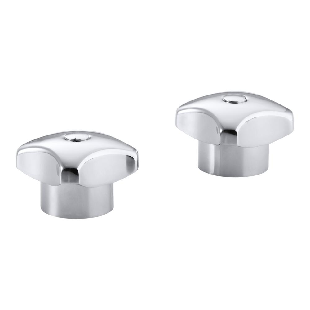 KOHLER Triton Standard Handles in Polished Chrome (2-Pack)-K-16012 ...