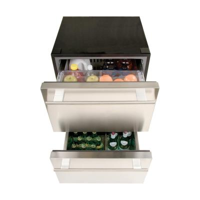5.4 cu. ft. Undercounter Dual Drawer Refrigerator in Stainless Steel