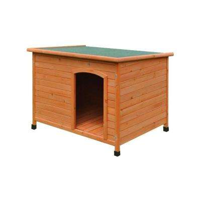 46 in. x 31 in. x 31 in. Weatherproof Pine Dog Kennel