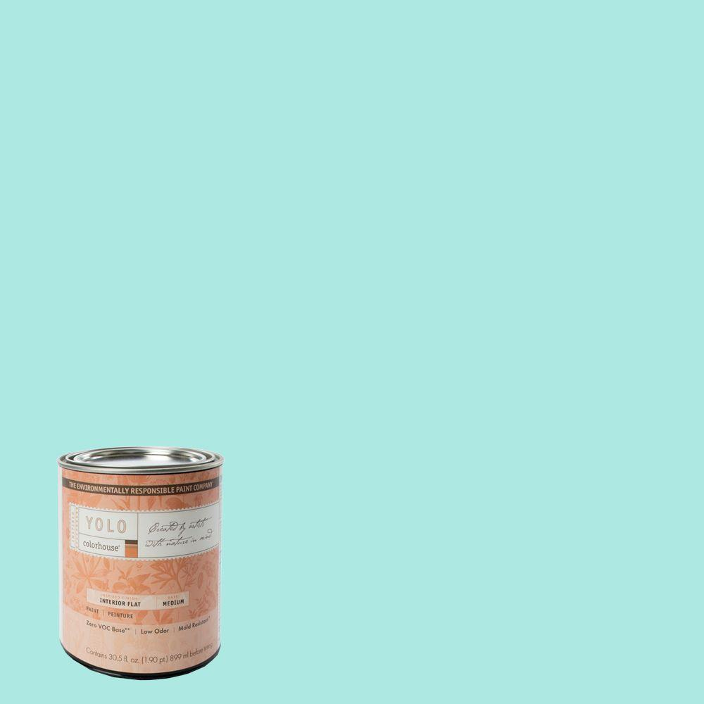 YOLO Colorhouse 1-Qt. Sprout .01 Flat Interior Paint-DISCONTINUED