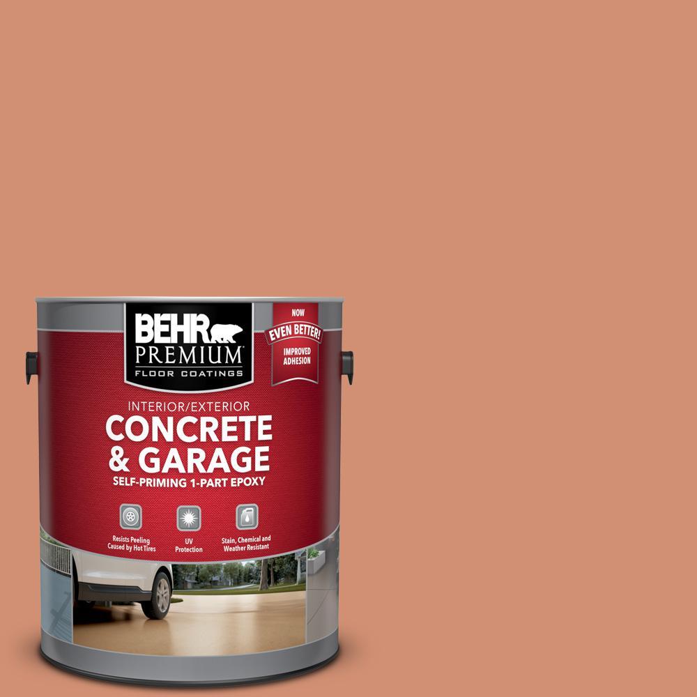 BEHR Premium 1 gal. #M200-5 Terra Cotta Clay Self-Priming 1-Part Epoxy Satin Interior/Exterior Concrete and Garage Floor Paint