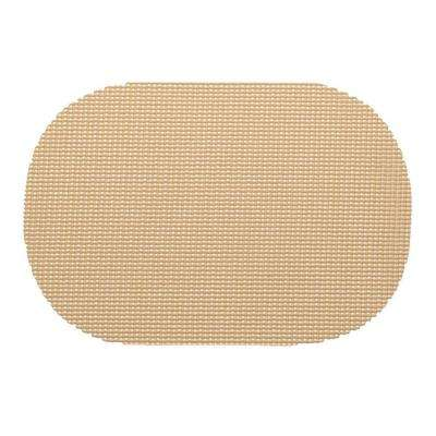 Fishnet Oval Placemat in Tan (Set of 12)