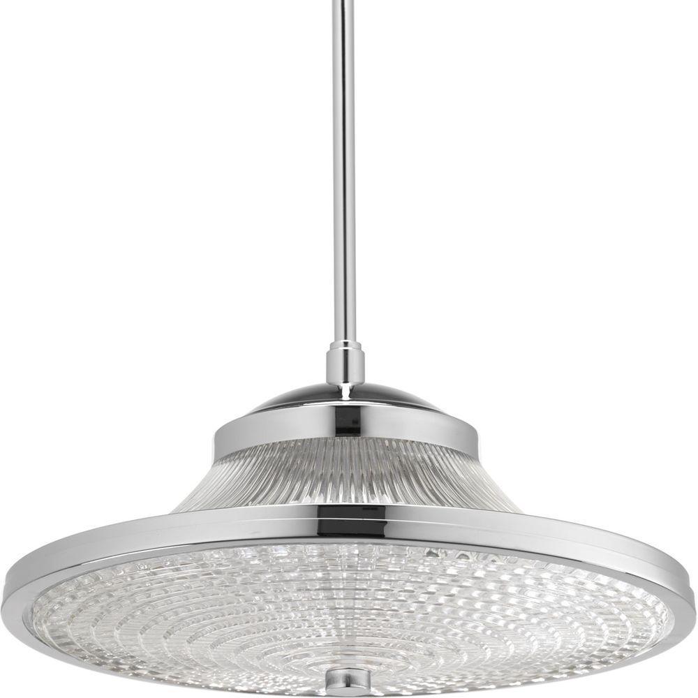 1-Light Polished Chrome LED Pendant