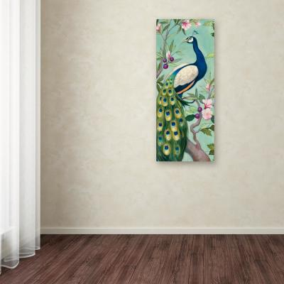 """47 in. x 20 in. """"Pretty Peacock II"""" by Julia Purinton Printed Canvas Wall Art"""
