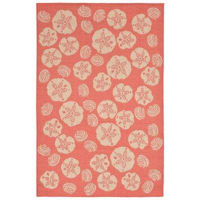 Baxter Sand Dollar Coral 5 ft. x 8 ft. Indoor/Outdoor Area Rug