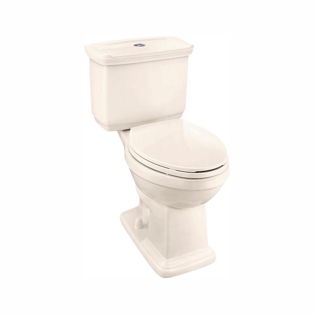 Glacier Bay 2-piece 1.0 GPF/1.28 GPF High Efficiency Dual Flush Elongated Toilet in Bone