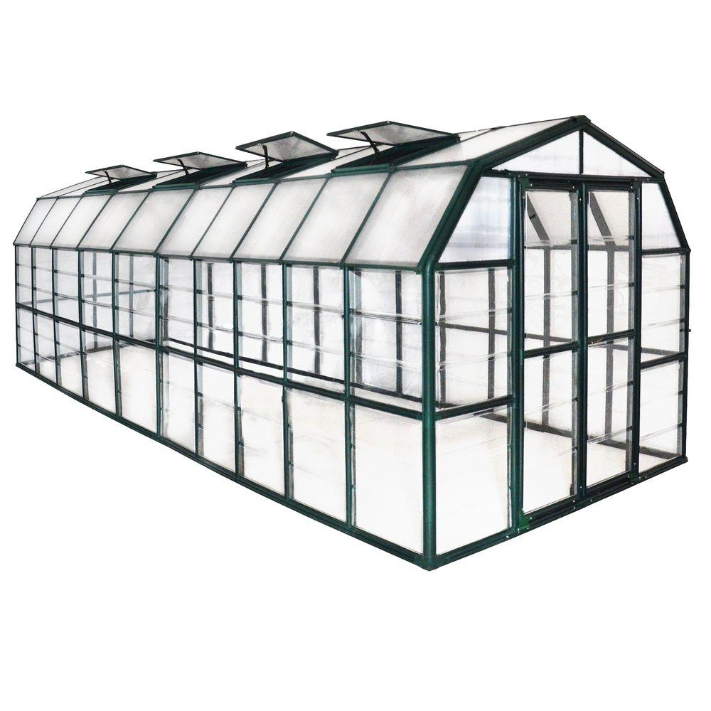 Grand Gardener Clear 8 ft. x 20 ft. Greenhouse