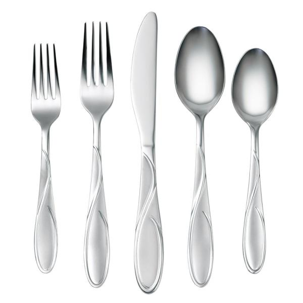 Cambridge Gabriella Sand 60-Piece 18/0 Stainless Steel Set 423360OPB12DS