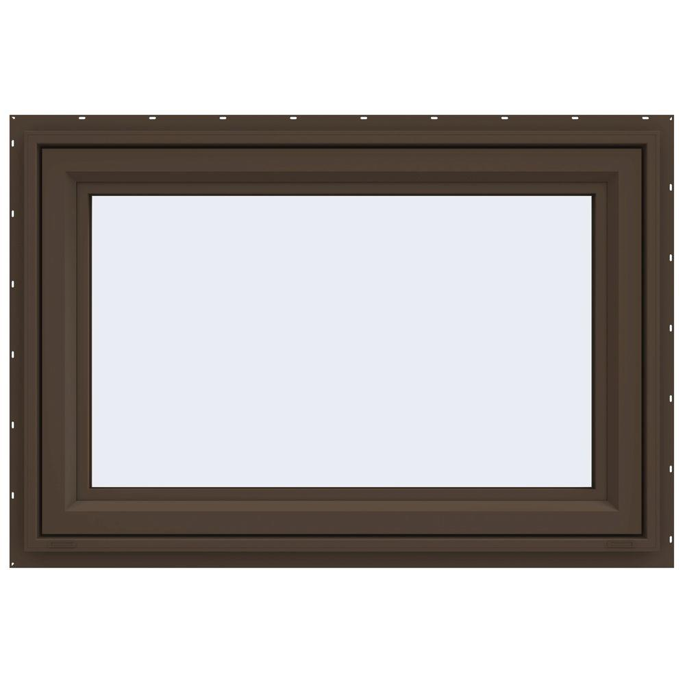 JELD-WEN 47.5 in. x 29.5 in. V-4500 Series Awning Vinyl Window - Brown