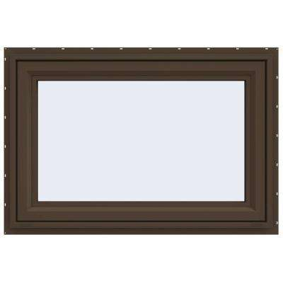 47.5 in. x 29.5 in. V-4500 Series Awning Vinyl Window - Brown