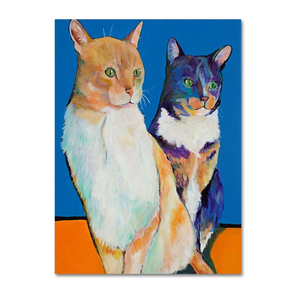 35 in. x 47 in. Dos Amores Canvas Art