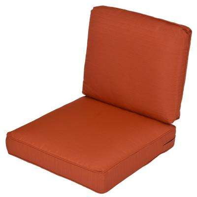 Quarry Red 2-Piece Deep Seating Outdoor Lounge Chair Cushion (2-Pack)
