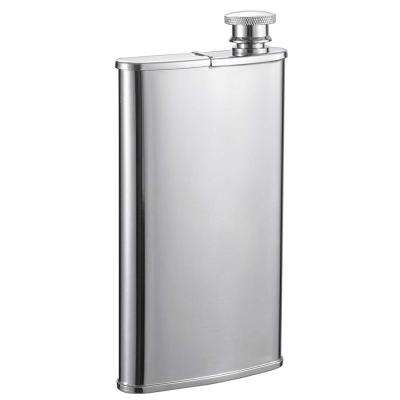 Edian Stainless Steel Flask with Built-in Cigar Holder
