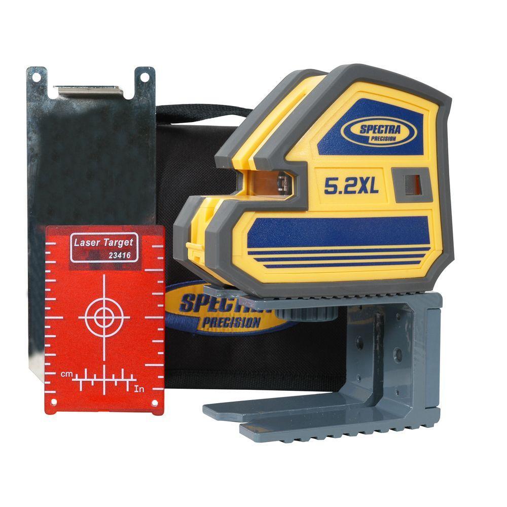 Spectra Precision Multi-Purpose Self-Leveling 5 Point and Cross Line Laser Level