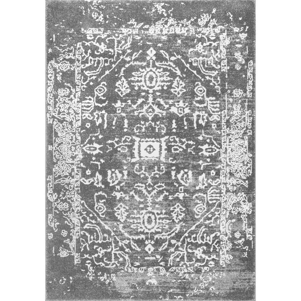 Nuloom Vintage Tribal Shaina Charcoal 8 Ft X 10 Ft Area