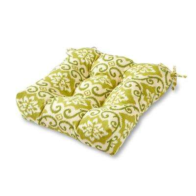 Shoreham Ikat Square Tufted Outdoor Seat Cushion