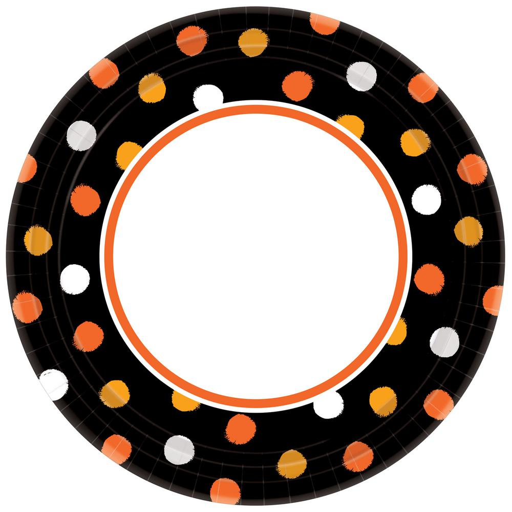 6.75 in. x 6.75 in. Halloween Haunt Couture Plate (8-Pack)