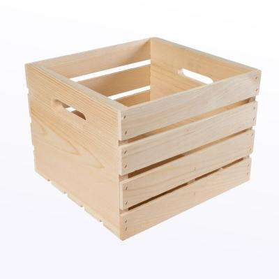 13.5 in. x 12.5 in. x 9.625 in. Large Growler Wood Crate (2-Pack)