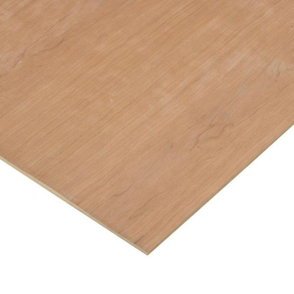 1/4 in. x 2 ft. x 2 ft. 2-Sided PureBond Cherry Plywood Project Panel
