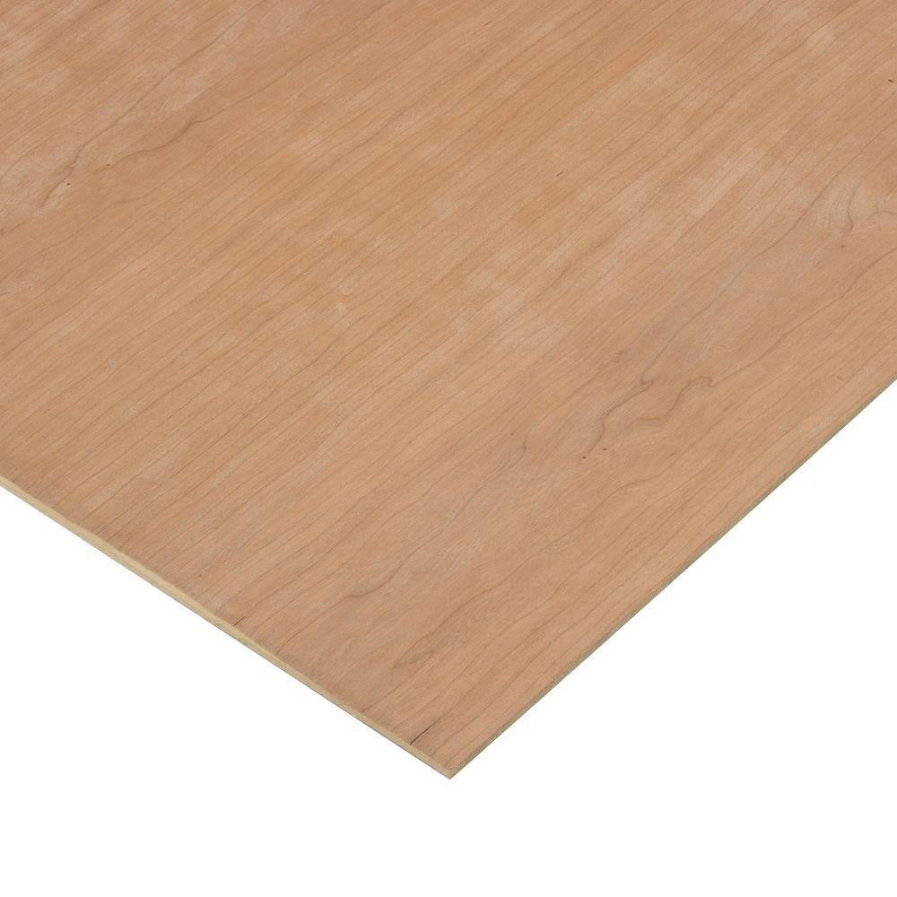 Columbia Forest Products 1/4 in. x 4 ft. x 4 ft. 2-Sided PureBond Cherry Plywood Project Panel