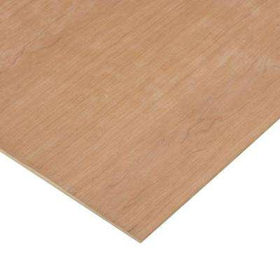1/4 in. x 4 ft. x 4 ft. 2-Sided PureBond Cherry Plywood Project Panel