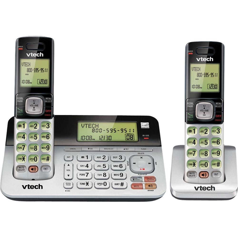 2 Handset Cordless Answering System with Dual Caller ID and Call