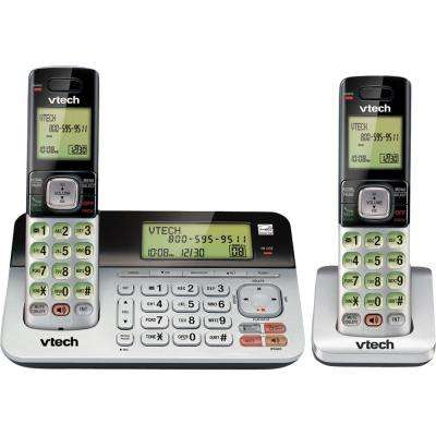 2 Handset Cordless Answering System with Dual Caller ID and Call Waiting