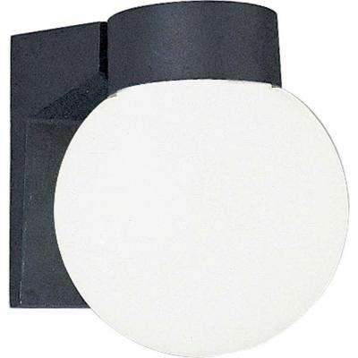 1-Light Black Exterior Wall Mount