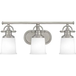 Grant 3-Light Antique Nickel Vanity Light