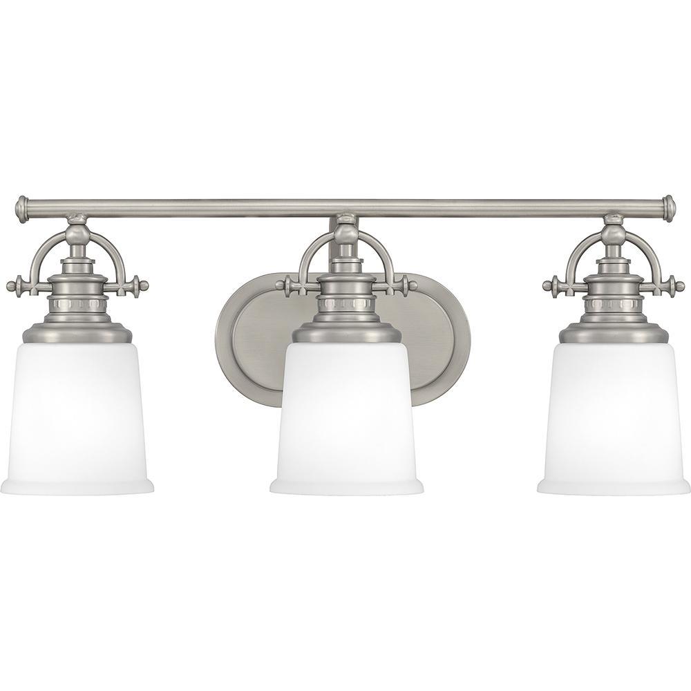Grant 3-Light Antique Nickel Vanity Light