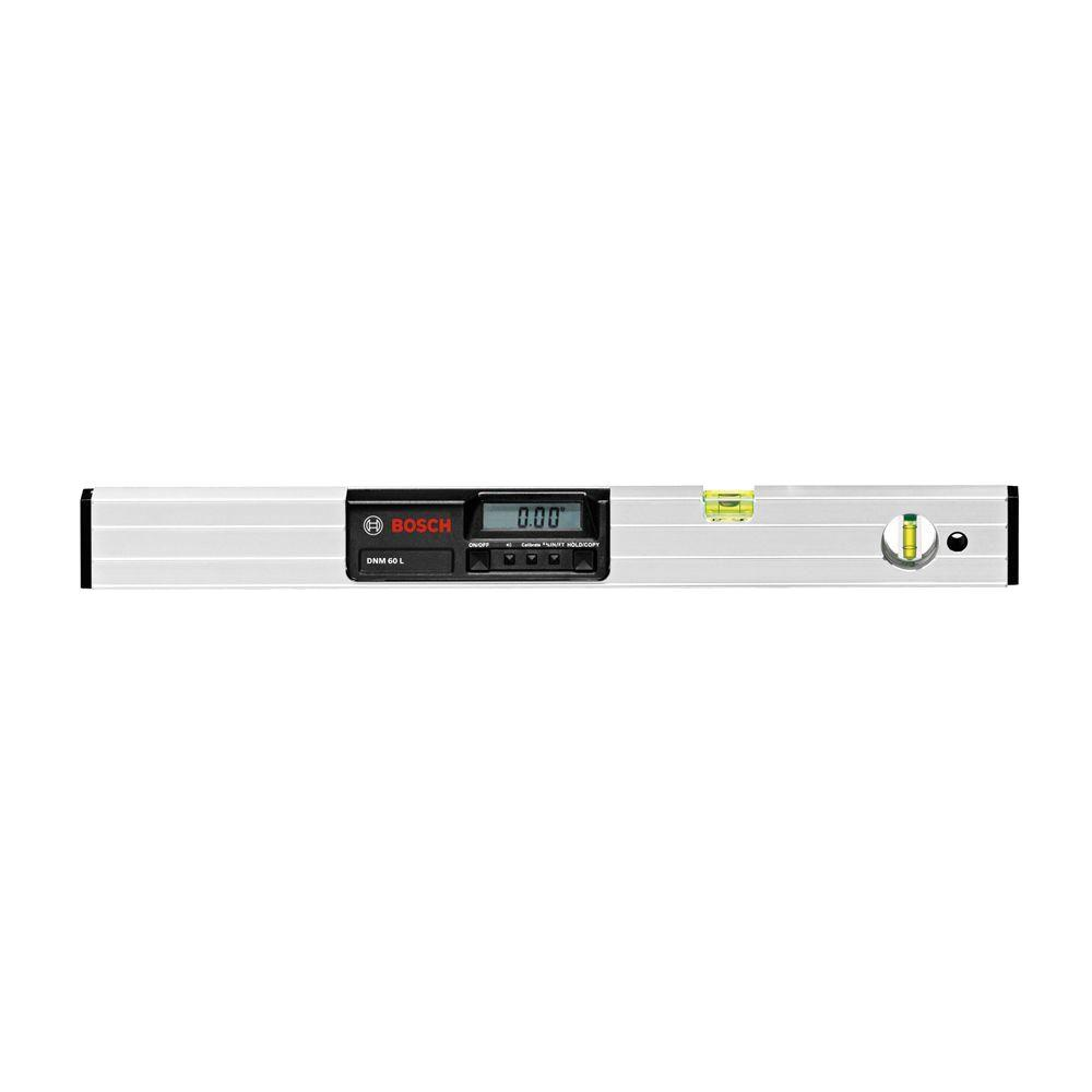 Bosch 24 in. Electronic Level Measures in Degrees, Percent, or Inches
