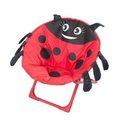 Ladybug Kiddy Steel Patio Lawn Chair in Red