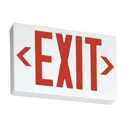 Contractor Select EXR Thermoplastic White LED Emergency Exit Sign
