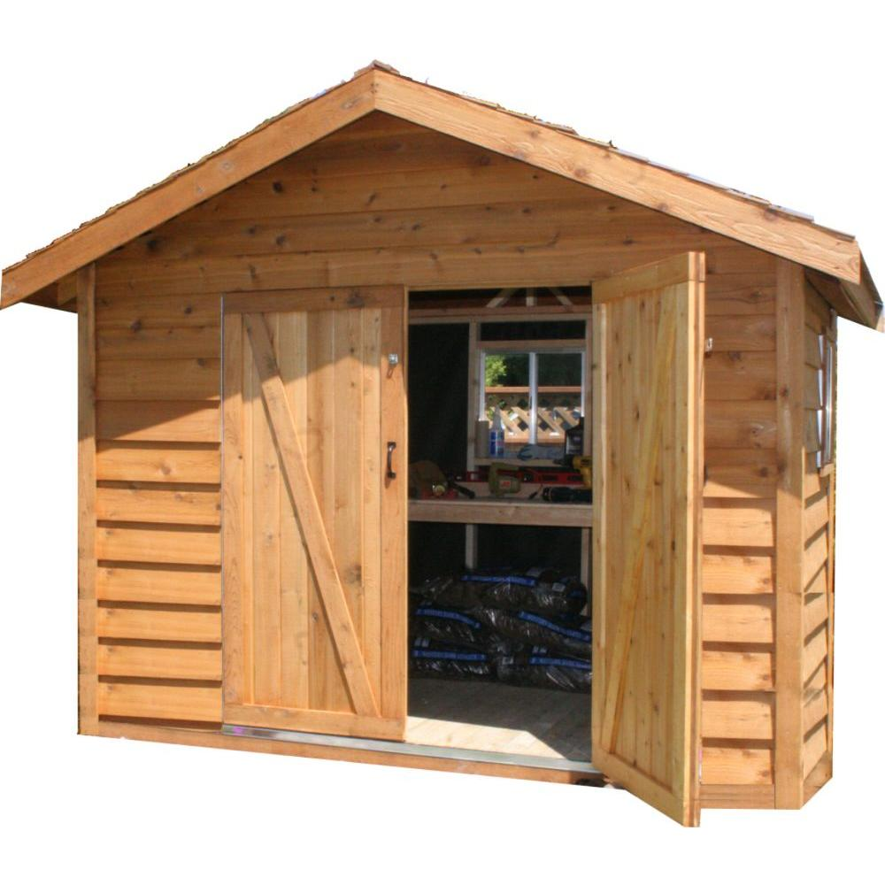 Star Lumber Deluxe 8 ft. x 6 ft. Cedar Bevel Siding Storage Shed Kit-DISCONTINUED