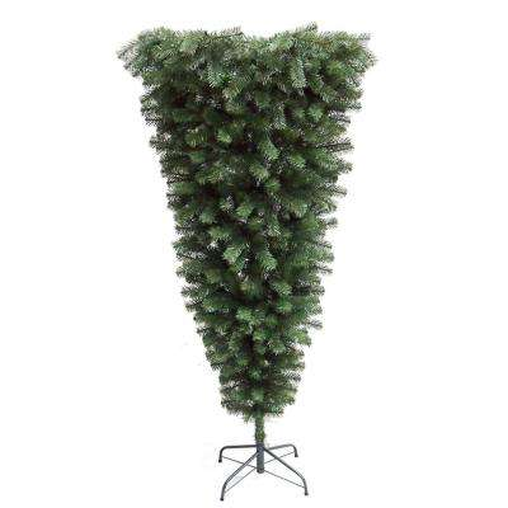 5.5 ft. x 38 in. Upside Down Spruce Medium Artificial Christmas Tree Unlit