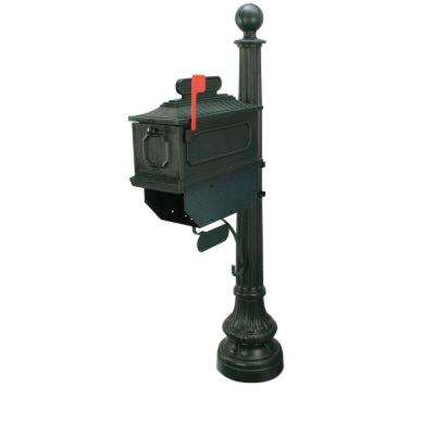1812 Beaumont 65 in. Plastic Green Mailbox and Post
