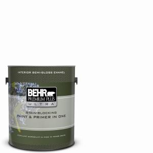 1 gal. Ultra Pure White Semi-Gloss Enamel Interior Paint and Primer in One