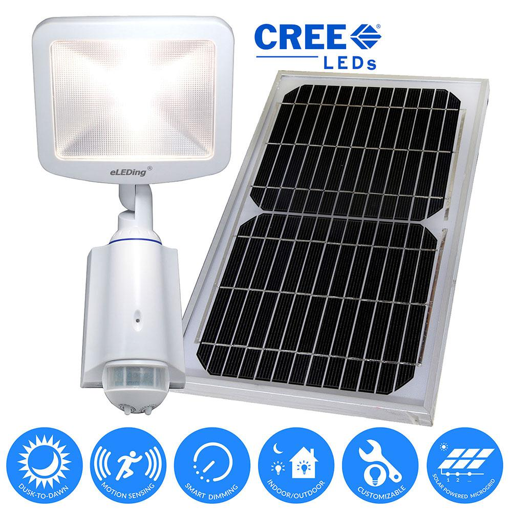 Parking Lot Lights Design: ELEDing 180° Solar Powered Cree LED Outdoor/Indoor Smart