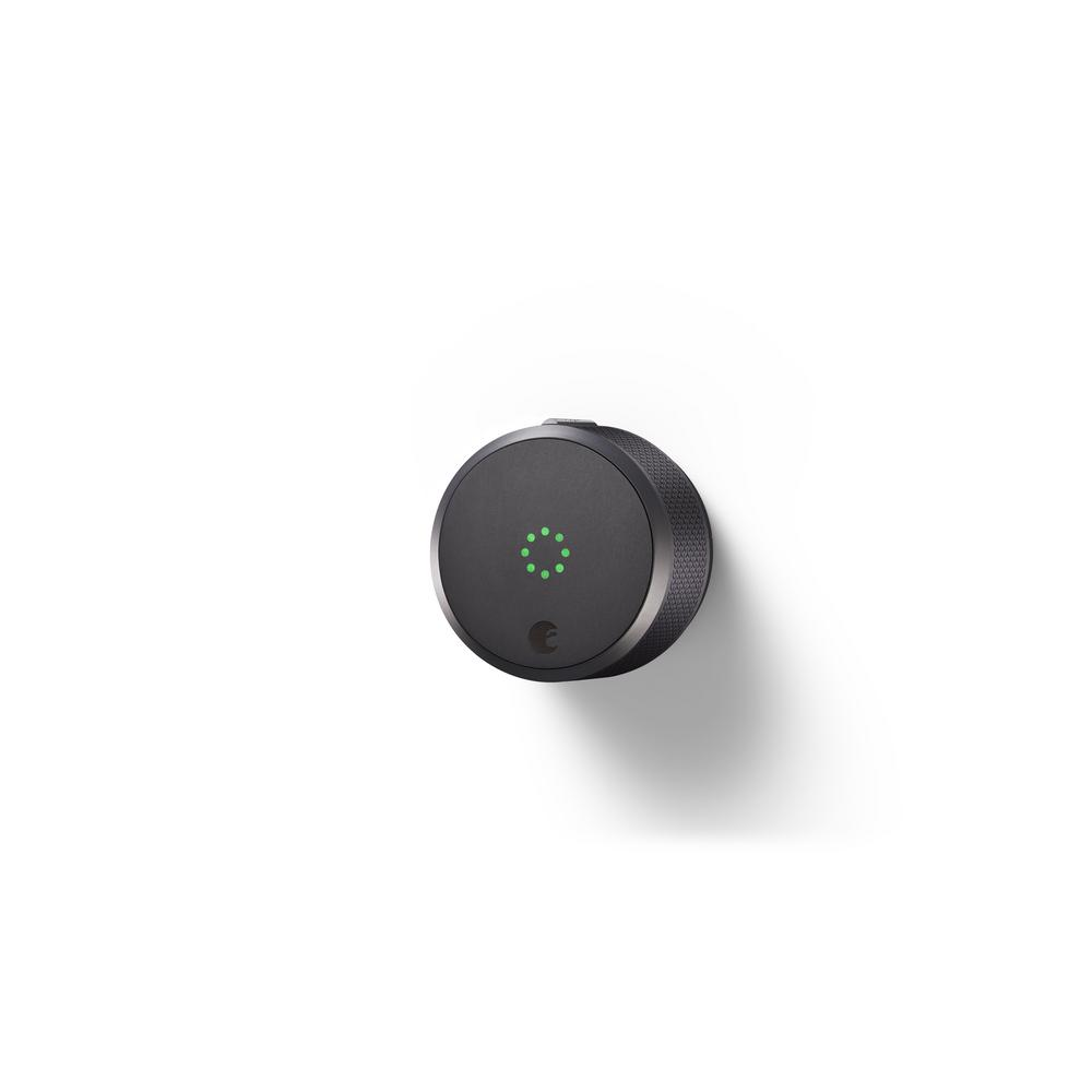 Lock Pro (Dark Gray) with Connect Wi-Fi Bridge, Deadbolts